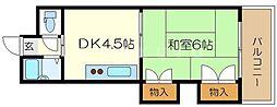 グレイスフル中崎1[7階]の間取り