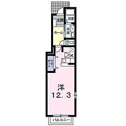 長野県長野市中御所4丁目の賃貸アパートの間取り