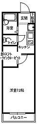 福岡県北九州市小倉南区城野2丁目の賃貸アパートの間取り