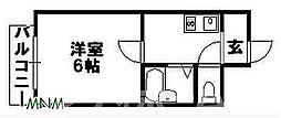 大阪府大阪市平野区流町4の賃貸マンションの間取り