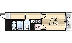 グロー駒川中野[410号室]の間取り