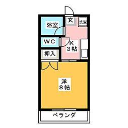 愛知県長久手市仲田の賃貸アパートの間取り