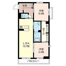 仮称 東大宮4丁目シャーメゾン[2階]の間取り