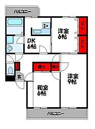 ブリリアントジョゼ[4階]の間取り