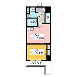 TRIBUTE尾張町[7階]の間取り