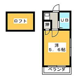 Libellula瓢箪山[2階]の間取り