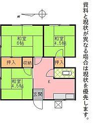 鶴寿荘A[305号室]の間取り