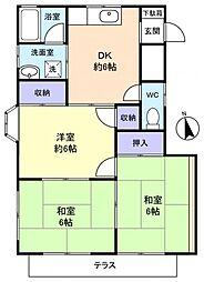 小川コーポ[1階]の間取り