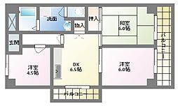 植田ビル[4階]の間取り