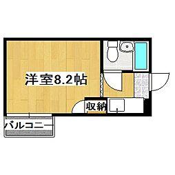 京都府京都市伏見区新町12丁目の賃貸マンションの間取り