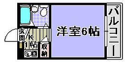 ユウパレス穴田[2-B号室]の間取り