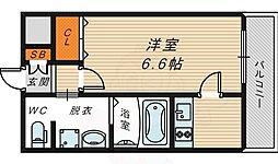 W.O.B京橋 3階1Kの間取り