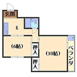 フルハウス84[205号室]の間取り