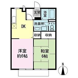 サンライフ菅沼[1階]の間取り