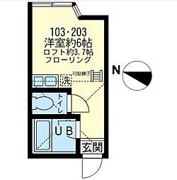 ユナイト浅田 アールグレイの杜[2階]の間取り