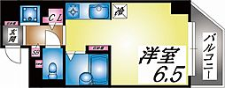阪急神戸本線 王子公園駅 徒歩8分の賃貸マンション 6階ワンルームの間取り