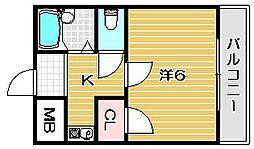 サクセスシティ[1階]の間取り