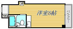 ロゼリウス荻窪[6階]の間取り