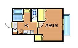 ブランドール三鷹新川[2階]の間取り
