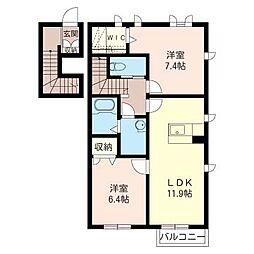 MNC.II[2階]の間取り