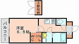 エンクレスト博多駅東[8階]の間取り