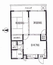 栗原第2ビル[3階]の間取り