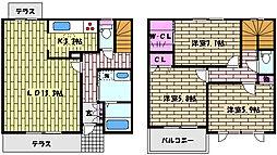 [テラスハウス] 兵庫県芦屋市朝日ケ丘町 の賃貸【/】の間取り