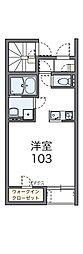 京王相模原線 南大沢駅 バス15分 殿ヶ谷戸下車 徒歩5分の賃貸アパート 1階1Kの間取り