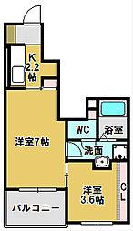 コートハウス安塚 II[1階]の間取り