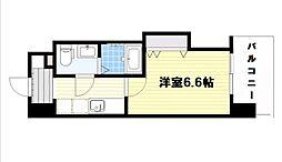 ラグゼ桜ノ宮 11階1Kの間取り