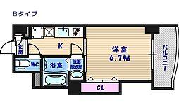 ラグゼ住之江[6階]の間取り