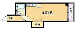 Osaka Metro谷町線 都島駅 徒歩6分の賃貸マンション 2階ワンルームの間取り