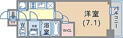 JR東海道・山陽本線 神戸駅 徒歩5分の賃貸マンション 4階1Kの間取り