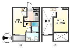Embellir Due(アンベリードゥ)[2階]の間取り