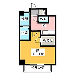 アガティス東静岡[8階]の間取り