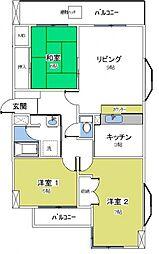 ライムライト松風台3[312号室号室]の間取り