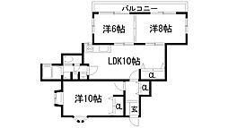 山仁サツキハイツ1[1階]の間取り