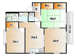 エティンセラー21B棟[1階]の間取り