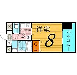 W.O.B.京橋[3階]の間取り