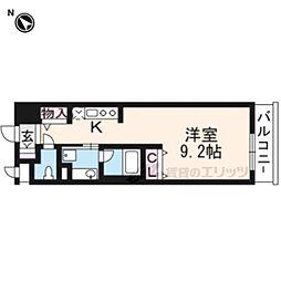 阪急京都本線 南茨木駅 徒歩1分の賃貸マンション 4階ワンルームの間取り