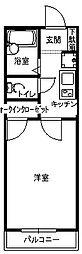 福岡県北九州市小倉南区下城野3丁目の賃貸アパートの間取り