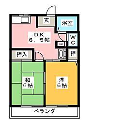 シェトワ[2階]の間取り