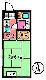 柿沢ハイツ[203号室]の間取り
