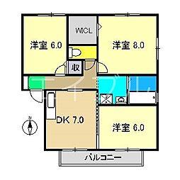 グランフェリオ C棟[2階]の間取り