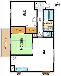 コーポ阪和[2階]の間取り