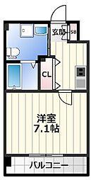JPレジデンス大阪城東2 10階1Kの間取り