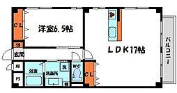 QoooQ守口ビル 4階1LDKの間取り