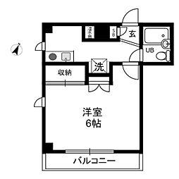 真弓ビル[4階]の間取り