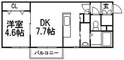 PLAZA M−7[407号室]の間取り