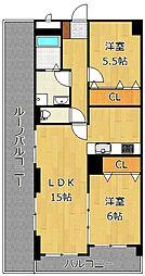 LE GRAND BLEU[7階]の間取り